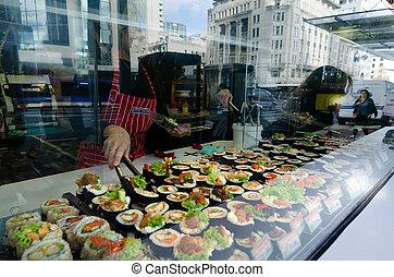 Japanese food - Sushi - AUCKLNAD, NZ - MAY 26:Sushi on...