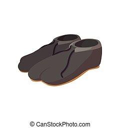 Japanese footwear cartoon icon
