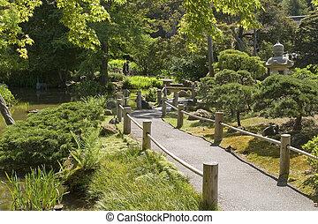 Japanese Garden hallway