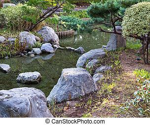 Japanese garden in Monte Carlo, Monaco