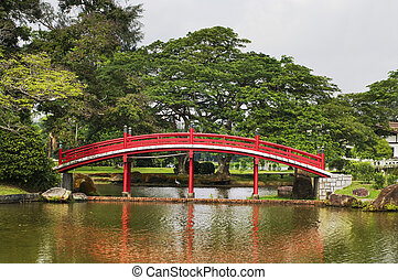 Japanese garden in Singapore