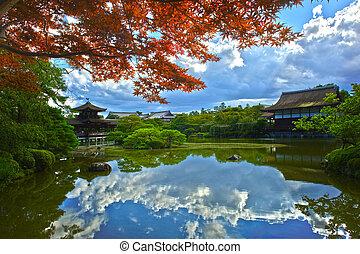 Japanese garden reflection