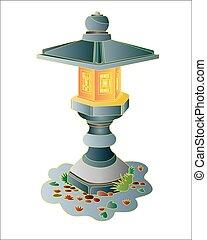 Japanese garden stone lantern. - Garden Japanese stone...