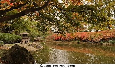 Japanese Garden With Pond Cinemagraph Loopable UHD 4K...