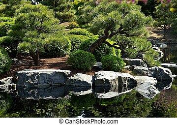 Japanese Garden with Pond