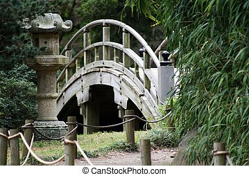Japanese Gardens Bridge - a beautiful view of the bridge...
