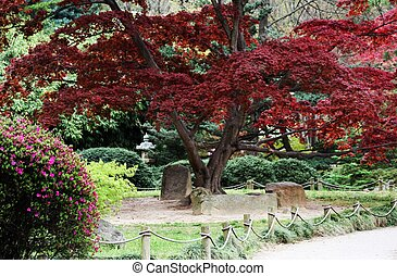 Japanese Gardens with tombs - This shot contains another...