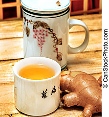 Japanese Ginger Tea Indicates Refreshment Beverages And Refreshes