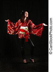 Japanese girl in a dress
