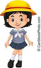 Japanese girl in school uniform