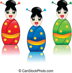 Japanese Girl with Kimono