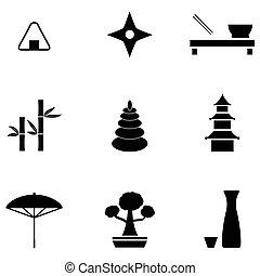 japanese icon set