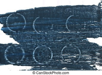 Japanese indigo abstract watercolor background