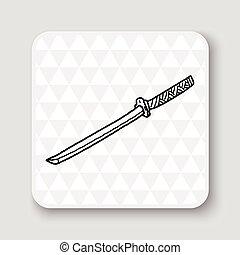 Japanese knife doodle