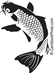 Japanese koi fish - Vector of a carp fish