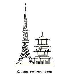 Japanese landmarks design