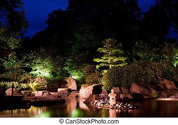 Japanese lantern in the garden