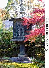 Japanese lanterns in the garden