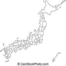 Japanese Map Vector Clip Art Illustrations Japanese Map - Japan map vector free download