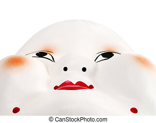 Japanese mask shapes-clipping path - Interesting perspective...