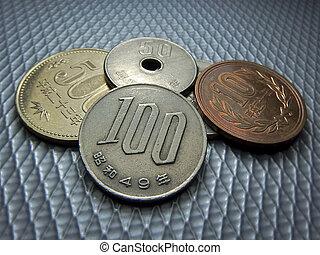 Japanese money, silver coin, yen