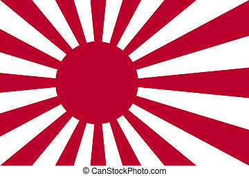 Japanese Navy Ensign - Rising Sun ensign of Japanese navy in...