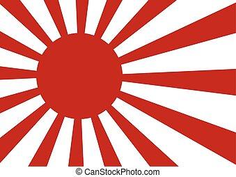 Japanese navy flag rising sun flag on white background....