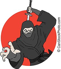 japanese ninja illustration - Creative design of japanese...