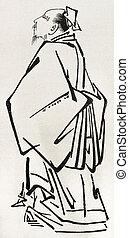 Japanese nobleman stylized image. Created by Rapine,...