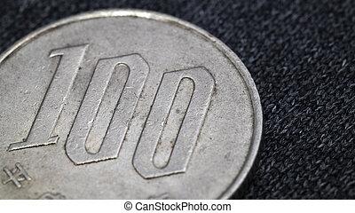 japanese one hundred yens coin