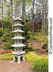 Japanese Pagoda in Garden