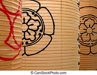 Japanese paper lanterns specific for Gion matsuri-the...