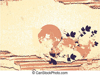 Japanese Paper Nature Texture Background Poster