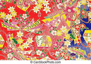 Japanese pattern - displaying japanese paper, texture...
