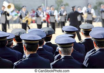 Japanese police ceremony