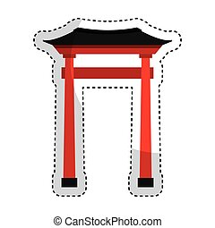 japanese portal isolated icon