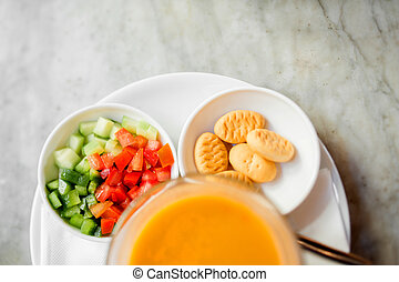 Japanese pumpkin orange soup