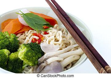 Ramen Noodles - Japanese Ramen Noodles, serve with...