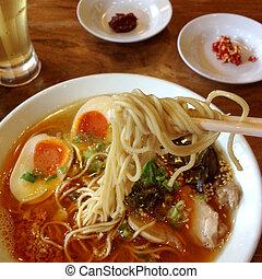 Japanese ramen pork soup noodles traditional cuisine