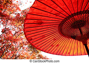 Japanese red umbrella - Japanese traditional red umbrella ...