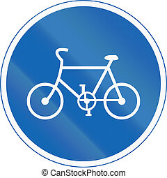 Japanese regulatory road sign - Bicycles Only
