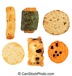 Japanese Rice Cracker Selection