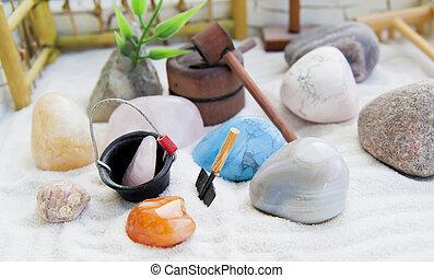 Japanese rock-garden in a miniature