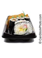 Japanese rolls sushi casserole