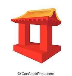 Japanese roof cartoon icon
