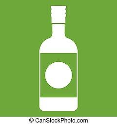 Japanese sake icon green
