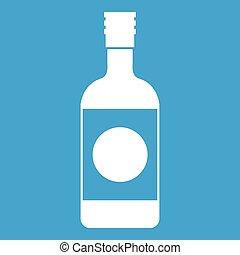 Japanese sake icon white