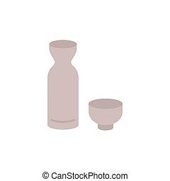 [japanese sake] vector illustration icons