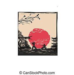 Japanese Samurai fighter card