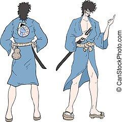 japanese samurai illustration